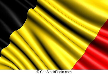 Flag of Belgium. Close up.