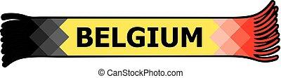 Flag of Belgium colors - sport fans scarf design