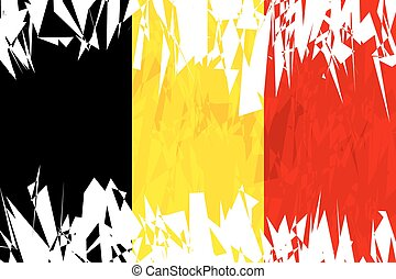 Flag of Belgium.