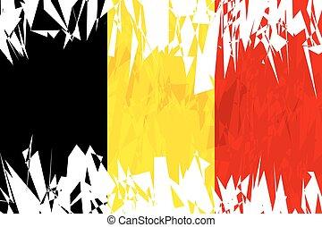 Flag of Belgium.