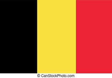 Flag of Belgium. Illustration.