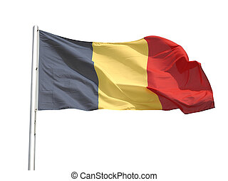 Flag of Belgium isolated over a white background