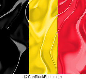 Flag of Belgium, national country symbol illustration