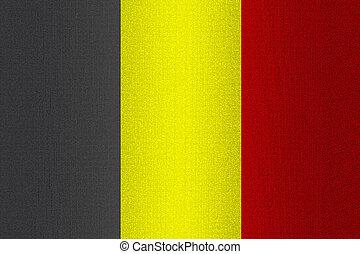 Flag of Belgium on stone
