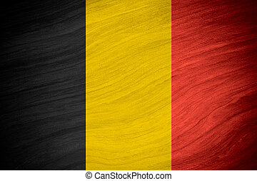 flag of Belgium or Belgian banner on abstract background