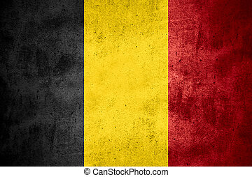 flag of Belgium or Belgian banner on rough pattern texture ...