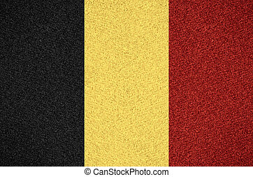 flag of Belgium or Belgian symbol on abstract background