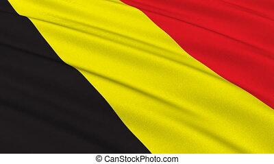 Flag of Belgium, seamless loop
