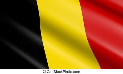 Flag of Belgium (seamless loop)