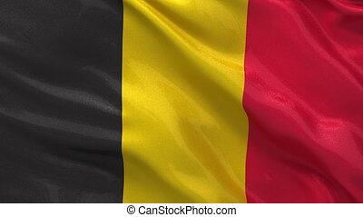 Flag of Belgium seamless loop