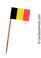 Flag of Belgium - Tooth pick wit a small paper flag of ...