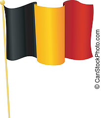 flag of Belgium. vector - vector illustration of flag of...