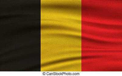 Flag of Belgium. - Vintage background with flag of Belgium. ...