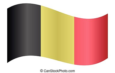 Flag of Belgium waving