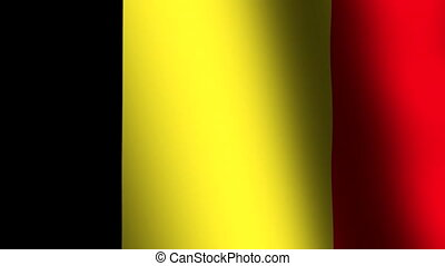 Flag of Belgium waving