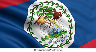 3d rendered flag of belize