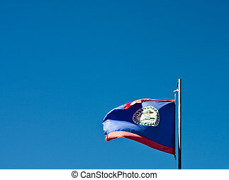 Flag of Belize Blowing in the Wind