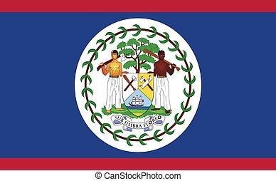 Flag of Belize - Belize flag vector illustration. created...