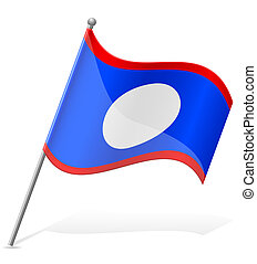 flag of Belize vector illustration