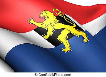 Flag of Benelux. Close up.