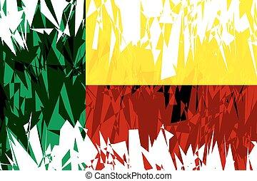 Flag of Benin.