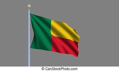 Flag of Benin with alpha matte