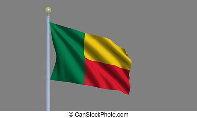 Flag of Benin with alpha matte