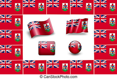 flag of Bermuda. icon set