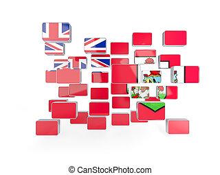 Flag of bermuda, mosaic background