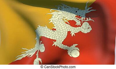Flag of Bhutan - Flags of the world collection - Bhutan