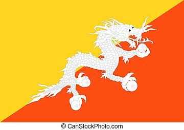 Flag of Bhutan Vector illustration eps 10