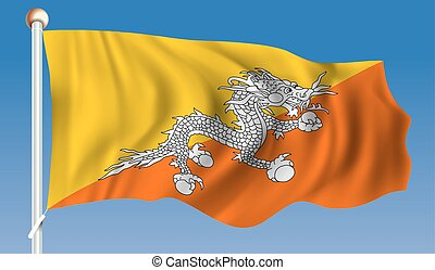 Flag of Bhutan - vector illustration