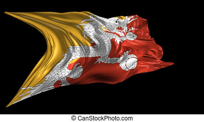 Flag of Bhutan - Beautiful 3d animation of Bhutan flag with...