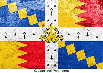 Flag of Birmingham (The Birmingham council banner), England, UK,