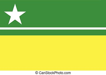Flag of Boa Vista, Roraima, Brazil. Vector Format