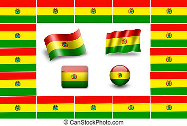 flag of Bolivia. icon set