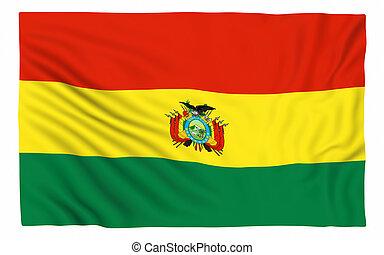 Flag of Bolivia , isolated on white.