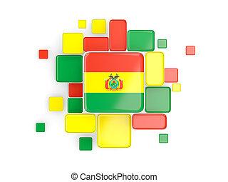 Flag of bolivia, mosaic background