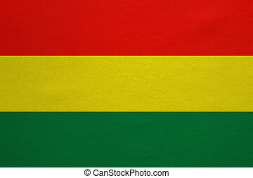 Flag of Bolivia real detailed fabric texture