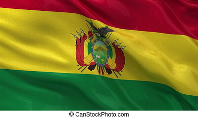 Flag of Bolivia seamless loop - Flag of Bolivia gently...