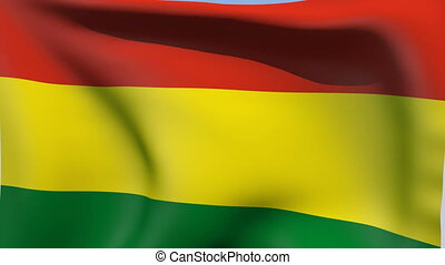 Flag of Bolivia - Flags of the world collection - Bolivia