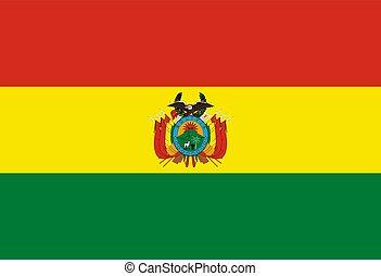 Flag of Bolivia Vector illustration eps 10
