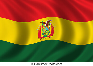 Flag of Bolivia waving in the wind
