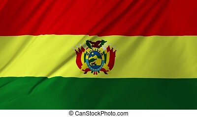 Flag of Bolivia with fabric texture 2 in 1
