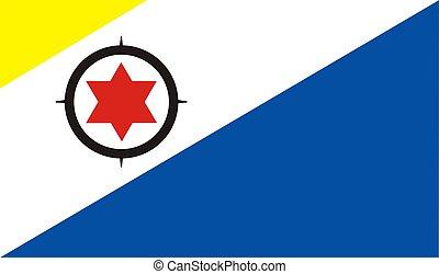 2D illustration of the flag of bonaire