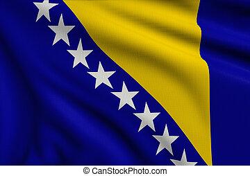 3d illustration flag of Bosnia and Herzegovina