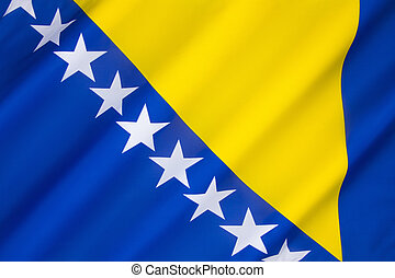 Flag of Bosnia and Herzegovina - The three points of the...