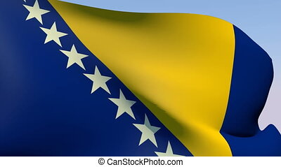 Flag of Bosnia - Flags of the world collection - Bosnia
