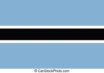 Flag of Botswana a vector illustration