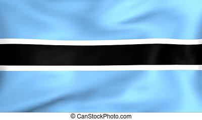 Developing the flag of Botswana